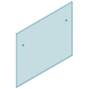 12mm Clear TGH HEAT SOAKED Glass - Euro Offset NO HOLE Balustrade 1200mmW x 970mmH