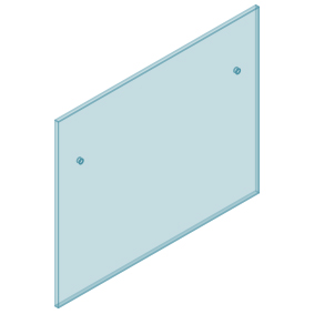 12mm Clear TGH HEAT SOAKED Glass - Euro Offset NO HOLE Balustrade 1250mmW x 970mmH