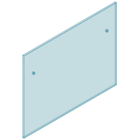 12mm Clear TGH HEAT SOAKED Glass - Euro Offset NO HOLE Balustrade 1300mmW x 970mmH