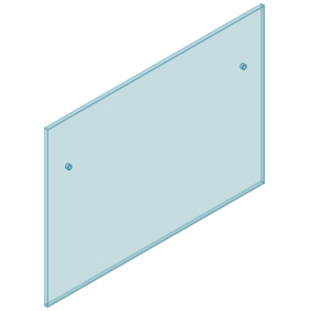 12mm Clear TGH HEAT SOAKED Glass - Euro Offset NO HOLE Balustrade 1400mmW x 970mmH