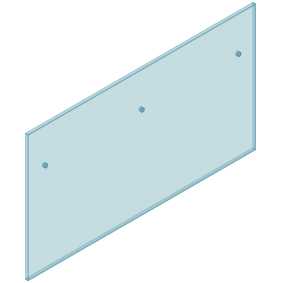 12mm Clear TGH HEAT SOAKED Glass - Euro Offset NO HOLE Balustrade 1800mmW x 970mmH
