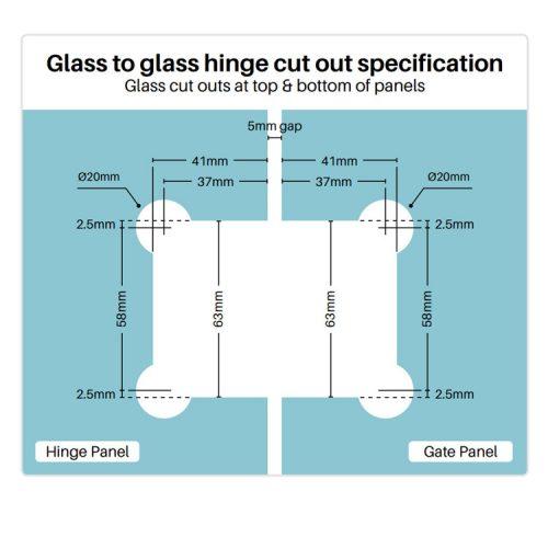 Polaris 120 Series Soft Close – Glass to Glass Hinge Set