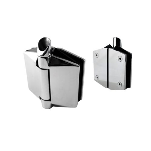 Polaris 120 Series Soft Close – Glass to Glass Hinge Set