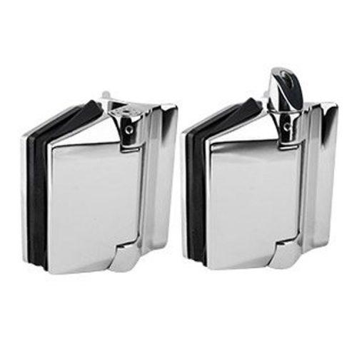 Polaris 120 Series soft-close glass to round post hinges
