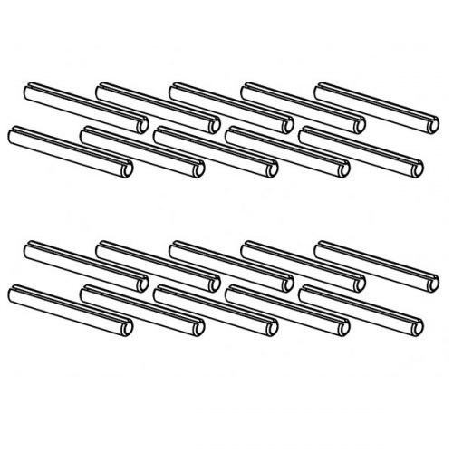 Versatilt adjustable glazing channel alignment pins