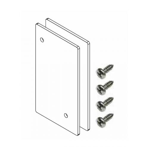 Versatilt adjustable glazing channel Face mount end plates