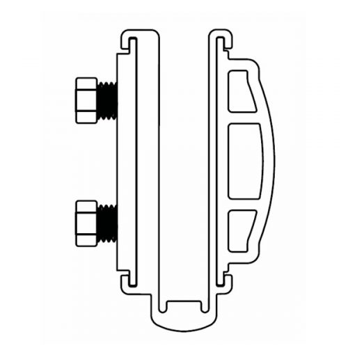 Versatilt adjustable glazing channel pressure plate kit