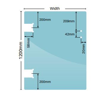 12mm Polaris hinge panels