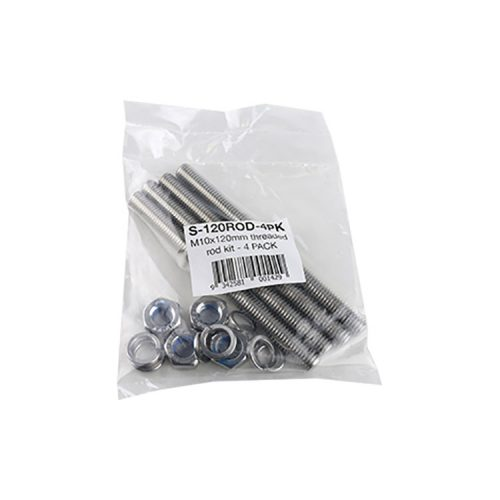 M10 x 120mm Threaded ROD Kit SS316 – 4 Pack