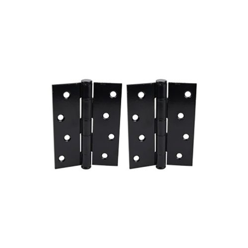 BUTT HINGE – Powder Coated Zinc – BLACK – Pair of 2