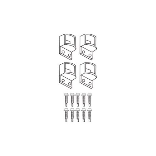 Six Star Tubular – Bracket – HORIZONTAL – 4 pack incl 10 Tek Screws