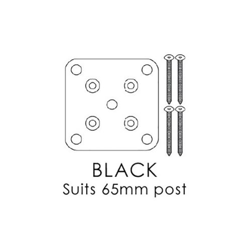 XPRESS Screening – BASE PLATE SET – BLACK 115x100mm