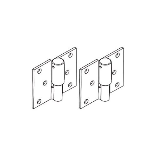Zeus Fencing – Bolt on Ball Bearing HINGE PAIR – LEFT HAND SIDE – Zinc Plated