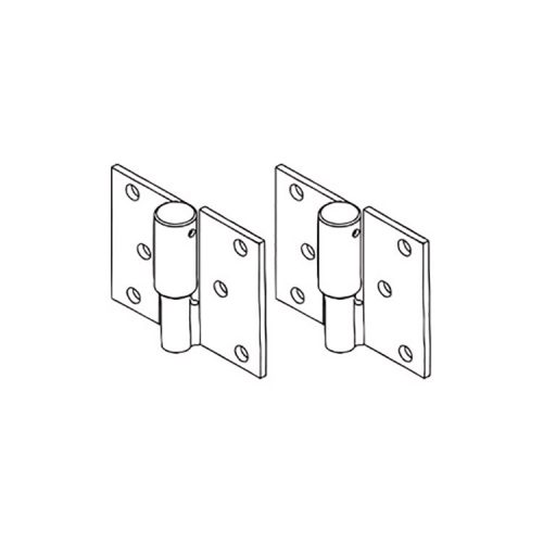 Zeus Fencing – Bolt on Ball Bearing HINGE PAIR – RIGHT HAND SIDE – Zinc Plated