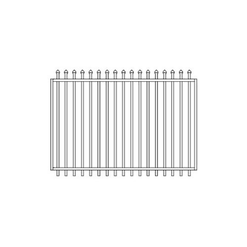 Zeus STEEL Fencing – 2450mm W x 2100mm H WIDE GATE – BLACK (galvanised steel powdercoated)