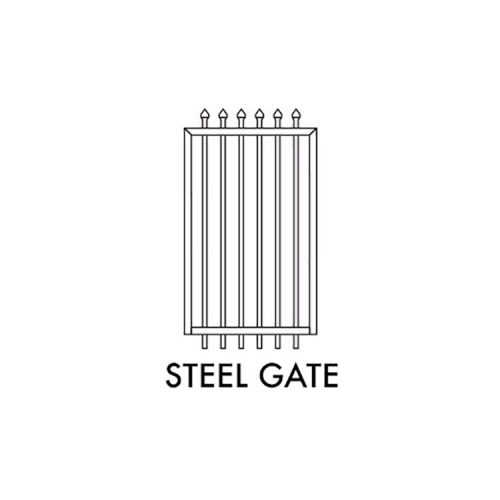 Zeus STEEL Fencing – 975mm W x 1800mm H PEDESTRIAN GATE – BLACK