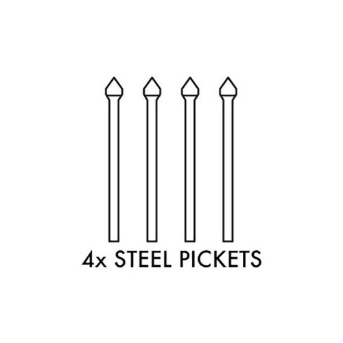 Zeus STEEL Fencing – 2100mm long PICKET – 4 PACK  MILL GALVANISED