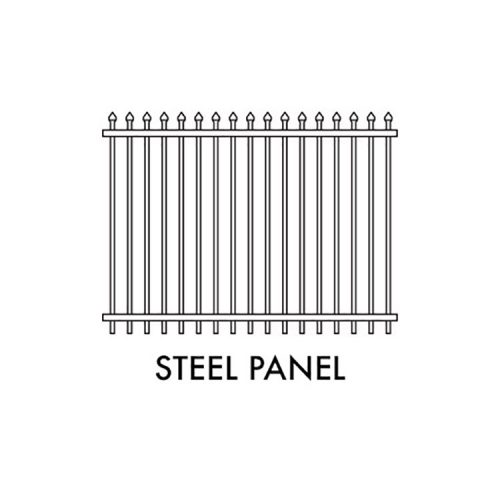 Zeus STEEL Fencing – 2400mm W x 1800mm H SECURITY PANEL – BLACK