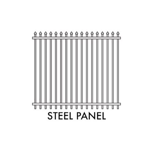Zeus STEEL Fencing – 2400mm W x 2100mm H SECURITY PANEL – BLACK