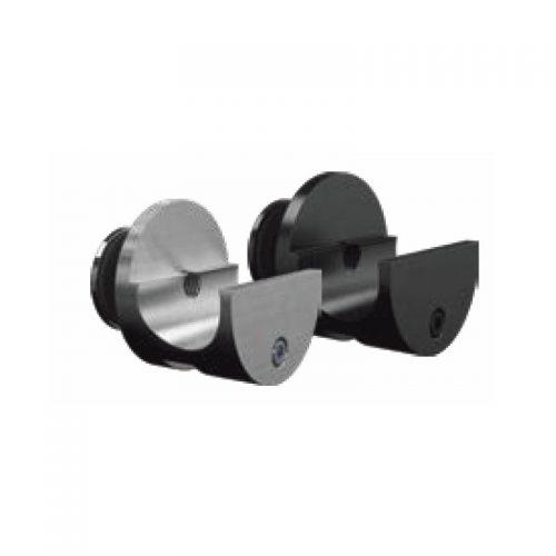 Glass mount rail clamp