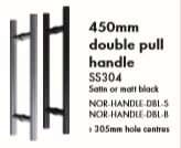 Double Pull Handle 450mm long