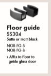 NORSK Sliding Door System- Floor Guide