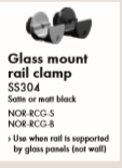 NORSK – Glass Mount Rail Clamp