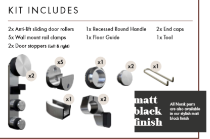 NORSK Box Set- Complete Fittings (Matt Black and Satin)