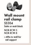 NORSK- Wall Mount Rail Clamp