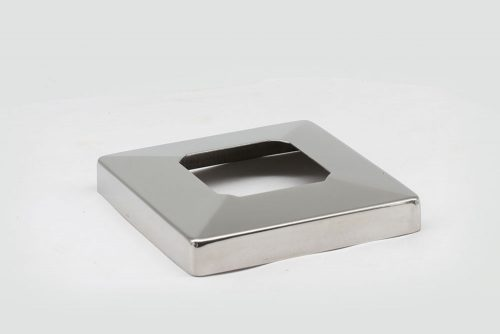 Square base plated spigot with cover plate SS2205