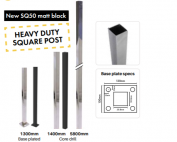 Square 50mm Core Drill Heavy Duty Post 1400mmH
