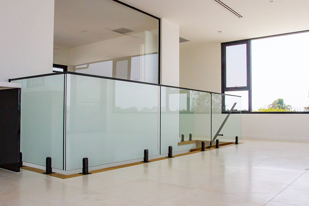 Black themed Glass Fencing